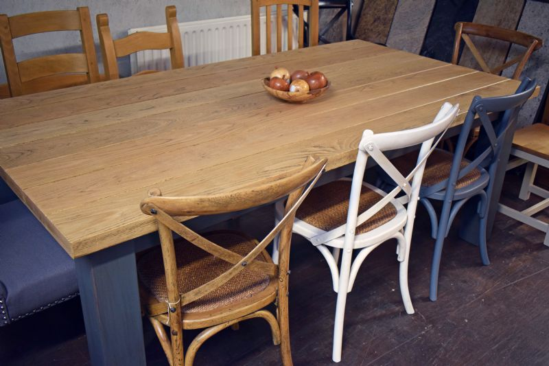 lucan table with cross-back chairs