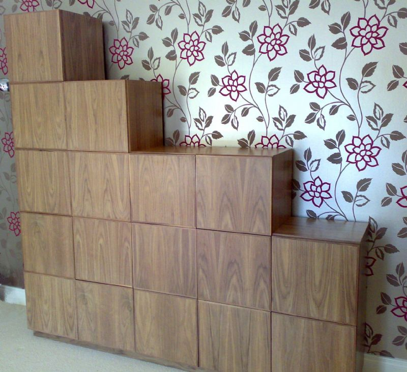 walnut stepped cabinets (2)